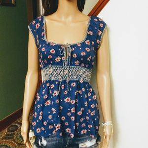 Free People floral blouse Sz-6